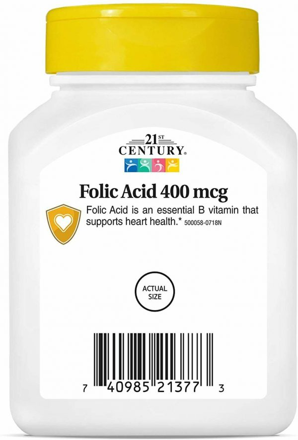 21st Century Folic Acid 400 mcg Tablets, 250 Count 1