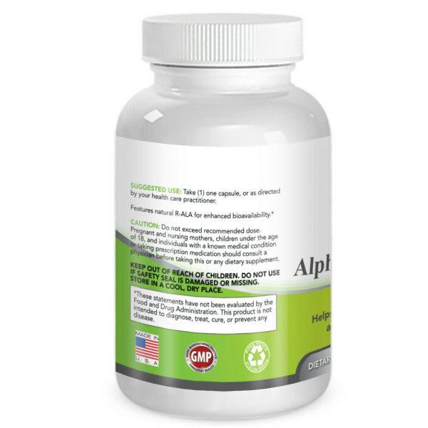 Simply Nature's Pure Alpha Lipoic Acid 600mg 120 veggie 4 month supply ALA R-ALA 2