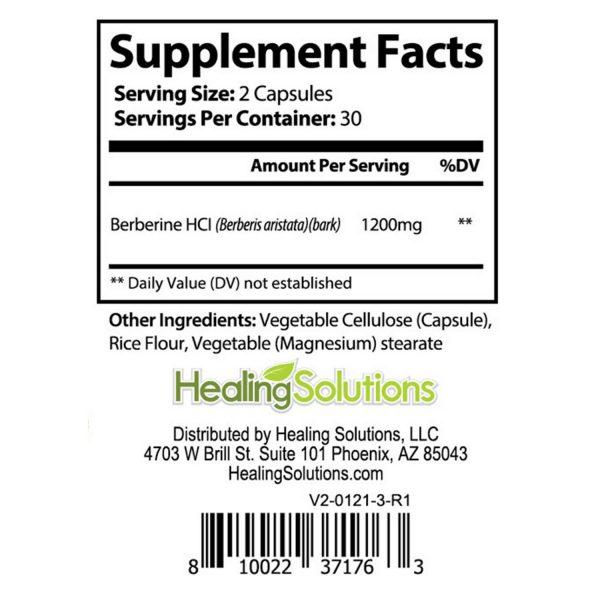 Berberine HCL 1200mg Glucose Metabolism Health Cholesterol Blood Sugar Support 6