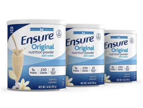 6 Ensure Original Nutrition Shake Powder Meal Replacement VANILLA 14oz 