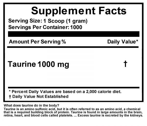 2.2lb (1000g) 100% PURE L-TAURINE FREE-FORM AMINO ACID POWDER USP GRADE  4