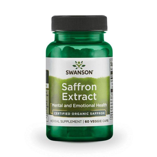 Swanson Saffron Extract - Certified Organic Saffron 30 mg 60 Veggie Capsules