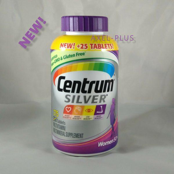 Centrum Silver MultiVitamin MultiMineral Complete Vitamin 275 Tabs Women Over50+