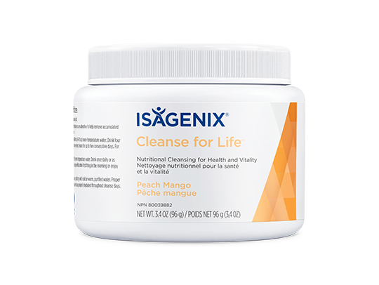 Isagenix Cleanse for Life Peach Mango 96 gram canister. New & Sealed