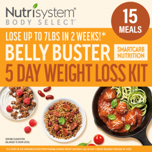5-Day Weight Loss Meal Kit Nutrisystem Delicious Meals with SmartCarb Nutrition