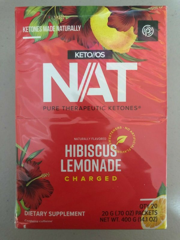 Pruvit Keto OS NAT Hibiscus Lemonade Charged 5, 10 & 20 Packs Free Shipping!