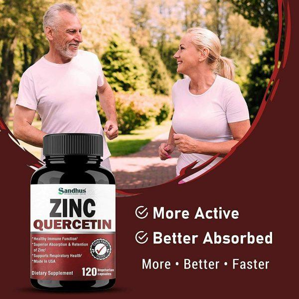 Zinc with Quercetin 120 Capsules - Best Quercetin Zinc Supplement (2 Pack) 3