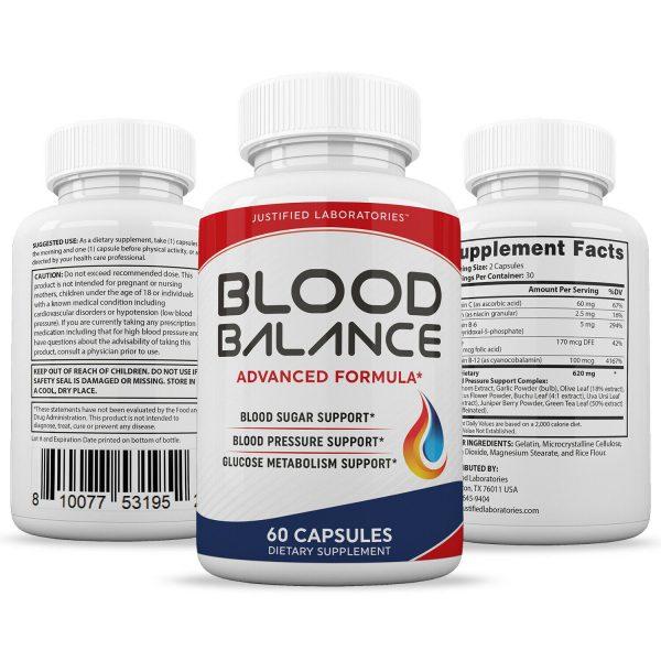 Blood Balance Advanced Formula Cholesterol Blood Sugar Pressure Support 2 Pack 4