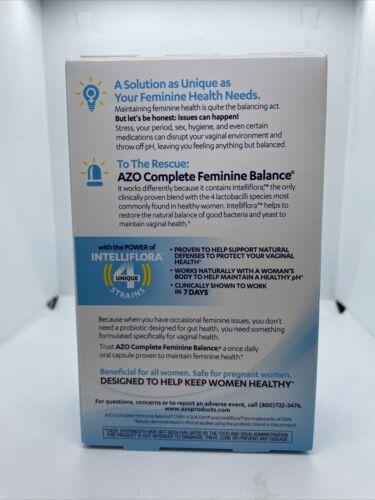 AZO Complete Feminine Balance Daily Probiotic - 30 Capsules Exp: 10/21 1