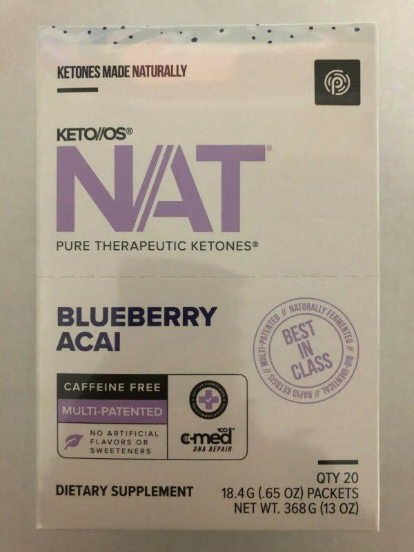 Pruvit Keto OS Nat Blueberry Acai 5, 10 & 20 Packs FREE SHIPPING 4