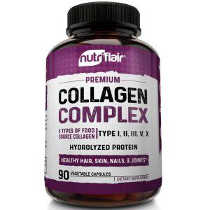 Multi Collagen Pills 5 Types I II III V X Collagen Protein Peptides Complex 2250 1