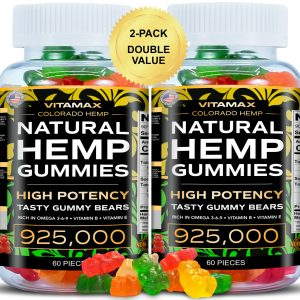 (2 Pack) Natural Gummies for Stress Relief -  For Pain, Insomnia & Anxiety 120ct