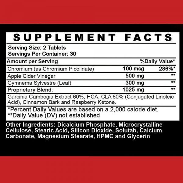 Weight Loss Apple Cider Vinegar w. Garcinia Pills ACV & CLA Fat Burner, 60 ct 1P 1
