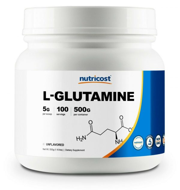 Nutricost Pure L-Glutamine Powder 500G - 100 Servings, Non-GMO & Gluten Free