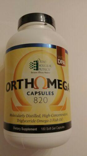Ortho Molecular Orthomega 820 180 Soft Gel Capsules Expiration 06/2022 7