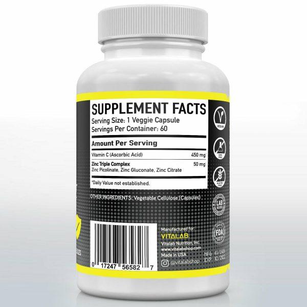 Zinc Complex Extra Strength 50mg Immune Support Zinc Picolinate Supplements 2