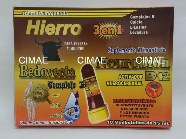 Ampolletas BEDOYECTA NEUROBION HIERRO 10 Botellas 15ml C/U                 CIMAE 4