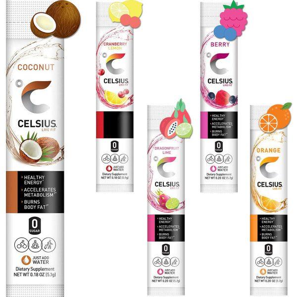 CELSIUS On-The-Go Powder Stick Energy Packs, ZERO Sugar (2 Pack) 1