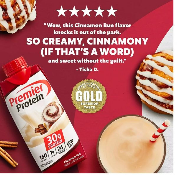 Premier Protein 30g High Protein Shake, Cinnamon Roll (11 fl. oz., 15 pk.) 2