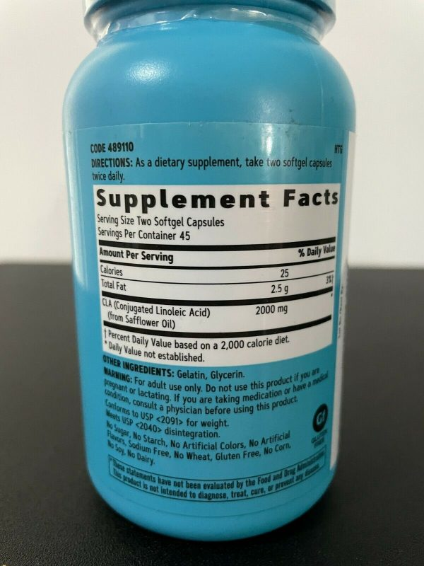 GNC Total Lean CLA 90ct Bottle Energy, Lean Muscle, Weight & Fat Loss EXP: 2/23 2
