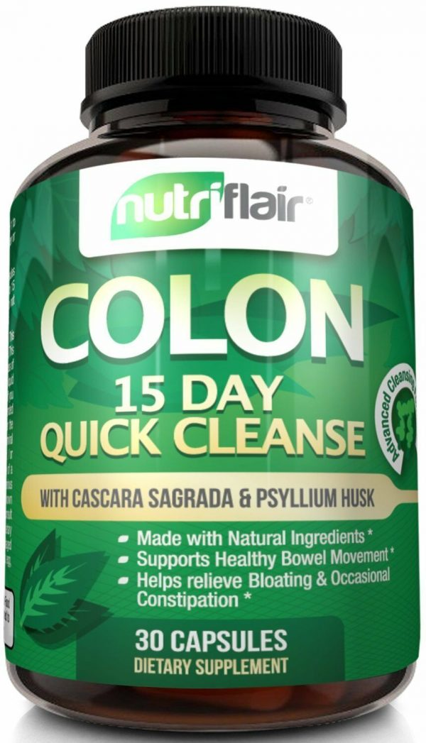 ▶ NutriFlair 15 Day Quick Colon Cleanse - Natural Cleansing Formula, 30 Capsules 2