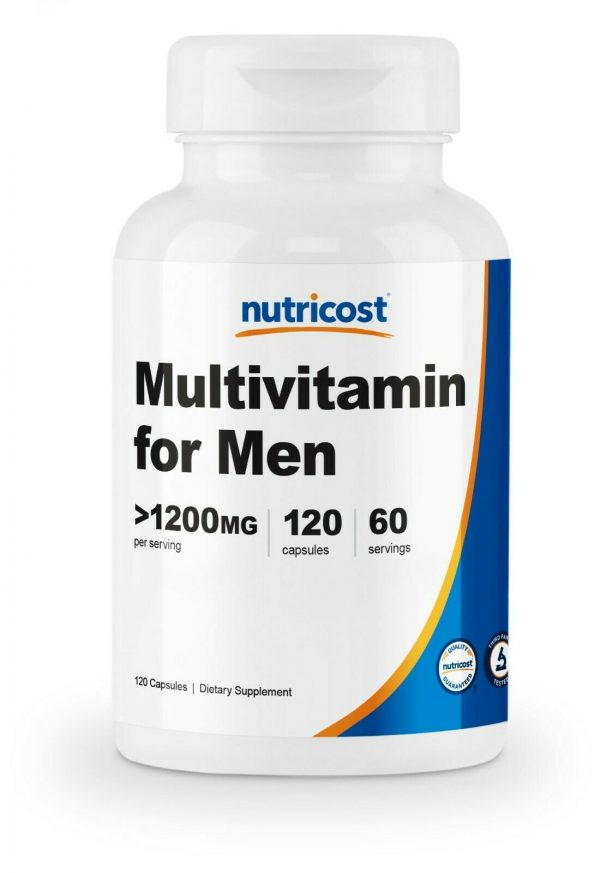 Nutricost Multivitamin for Men 120 Capsules - Vitamins and Minerals for The Heal