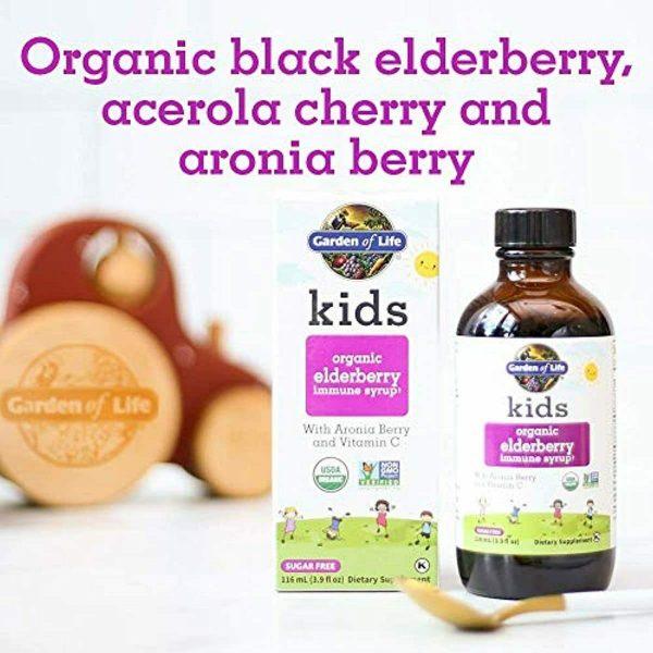 Garden of Life Kids Organic Elderberry Immune Syrup with Vitamin c for Immune Su 1
