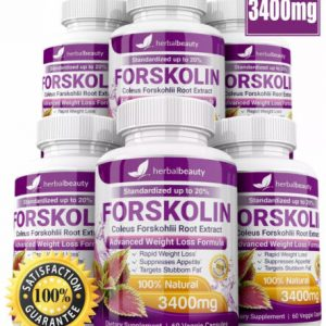 6 x Herbal Beauty FORSKOLIN 3400mg Maximum Strength RAPID RESULTS Pure Extract