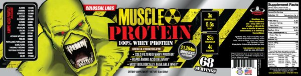 Colossal labs Whey Protein Powder 5lbs Monster Muscle isolate/blend 68 servings 5