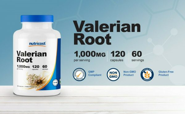 Nutricost Valerian Root Capsules 1000mg, 120 Caps - Gluten Free, Non-GMO 2