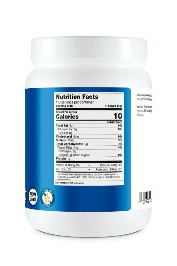 Nutricost Pure Spinach Powder 1LB 4