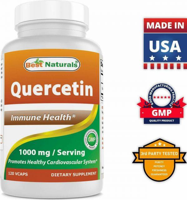 Best Naturals Quercetin 1000 mg/Serving 120 Veggie Capsules  6