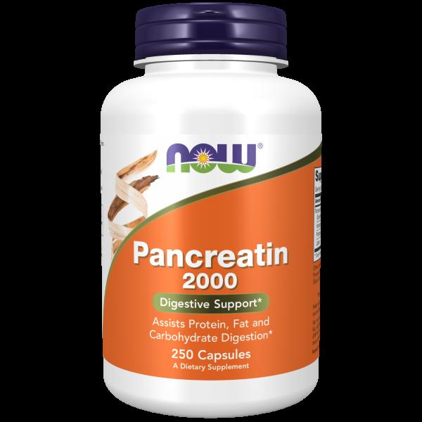 NOW Foods Pancreatin 2000, 250 Capsules