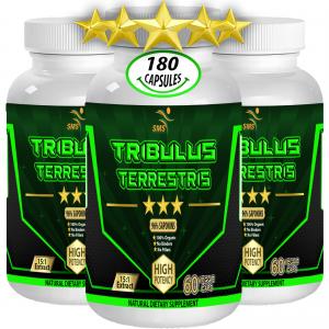 180 Caps TRIBULUS TERRESTRIS 96% SAPONINS EXTRACT BODY BUILD TESTOSTERON BOOST 1