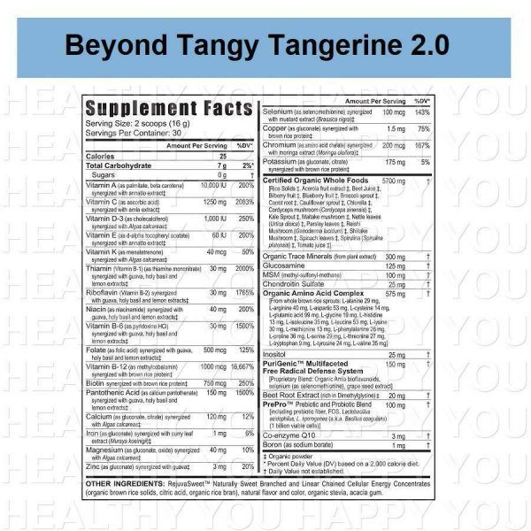 Beyond Tangy Tangerine 2.0 Citrus Peach Fusion [2 PACK] Youngevity BTT 1