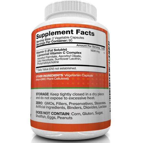 Nutrivein Liposomal Vitamin C 1600mg -180 Capsules - High Absorption Supplements 4
