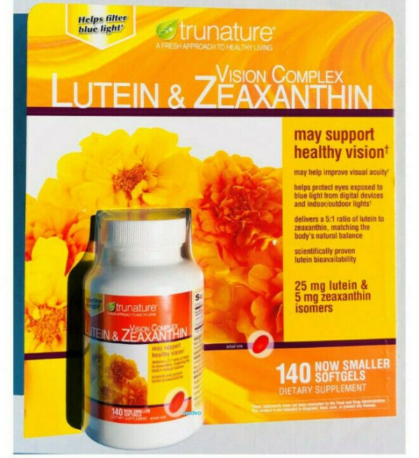 trunature Vision Complex Lutein & Zeaxanthin, 140 Softgels, FREE SHIPPING