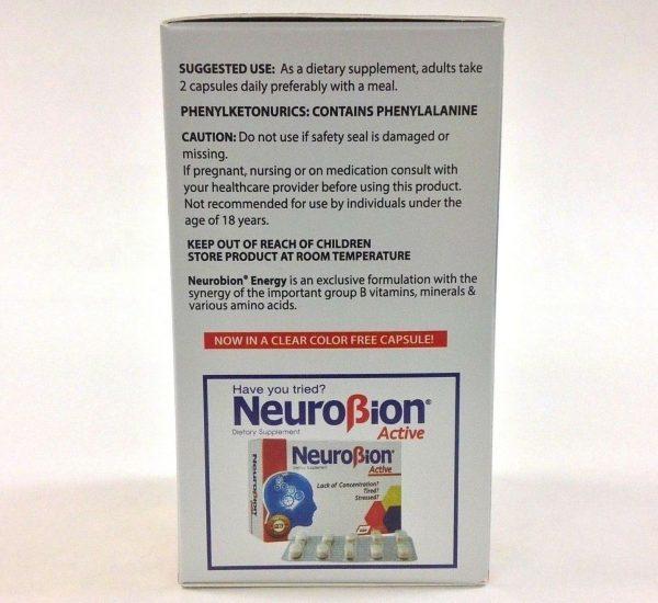 2 BOTTLES OF NEUROBION ENERGY 60 CAPSULES 3