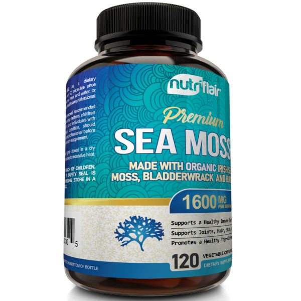 Organic Irish Sea Moss 1600mg Extract plus Bladderwrack & Burdock - 120 Capsules 3