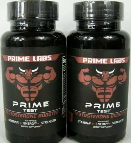 PRIME LABS Prime Test Testosterone Booster Lot of 2 Bottles 60 Caplets