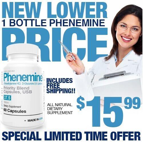 1 CT Phenemine Strong Best 37.5 375 Slimming Diet Pills  Adipex 37.5 P That Work