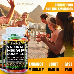 (2 Pack) Natural Gummies for Stress Relief -  For Pain, Insomnia & Anxiety 120ct 1