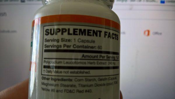 2 botlles Polypodium Leucotomos Extracts 1
