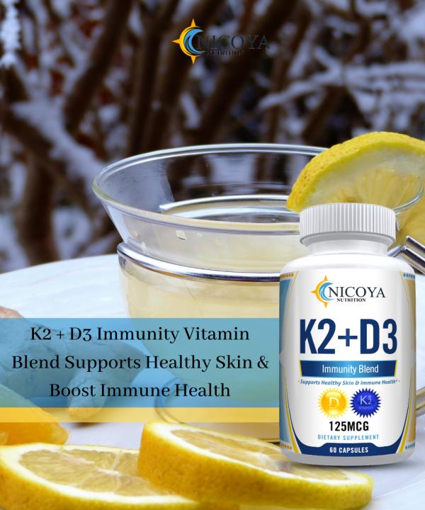 Vitamin K2 D3 Vitamin Supplement with BioPerine, Boost Immunity & Heart Health 3