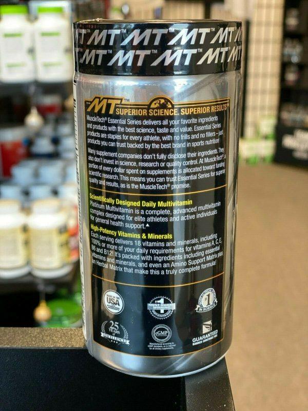 MuscleTech PLATINUM MULTIVITAMIN Amino Acid 90 and 180 Caps Free Ship SALE 2