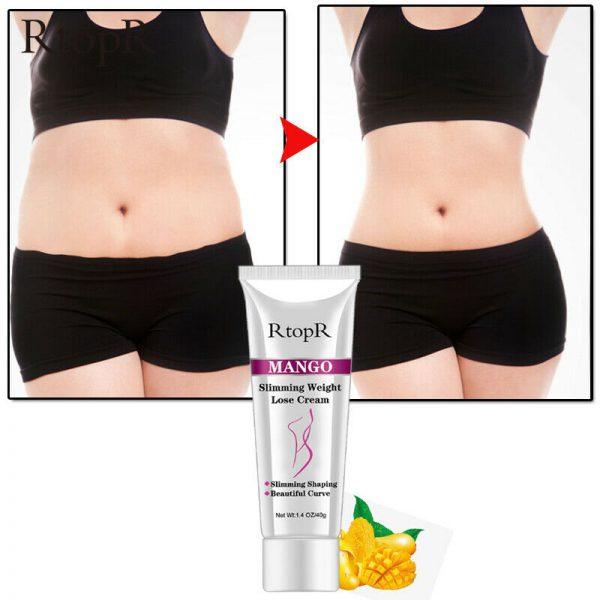 Weight Loss Cream Slimming Women Fast Fat Burning Thin Waist Belly Cream Mango  6
