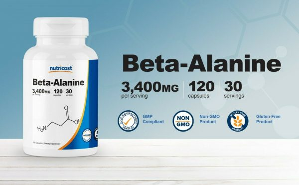 Nutricost Beta-Alanine Capsules 3400mg, 120 Capsules (30 Servings) 2