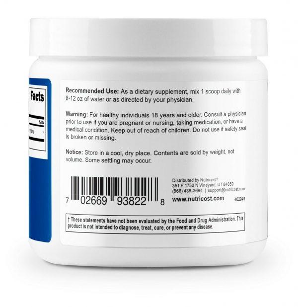 Nutricost N-Acetyl L-Cysteine (NAC) Powder, 250 Grams - Non-GMO and Gluten Free 2