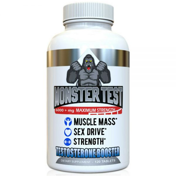 Testosterone Booster Monster Test with Tribulus for Men + Monster Test PM 2 Pack 4