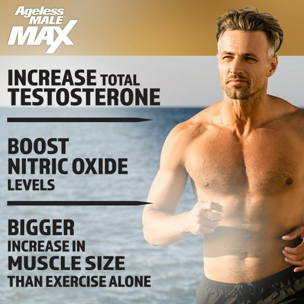 Ageless Male Max Testosterone Booster by New Vitality - 60 Caplets FREE Shipping 3